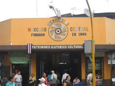 The entrance to Costa Rica's Mercado Central, or Central Market, is the largest marketplace in San Jose.   It is a congregation place;  a maze of shops and eateries and not for the claustrophobic.