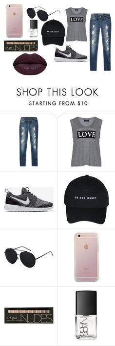 """Untitled #1"" by mirela-r13 on Polyvore featuring Carmakoma, NIKE, NARS Cosmetics and Winky Lux"