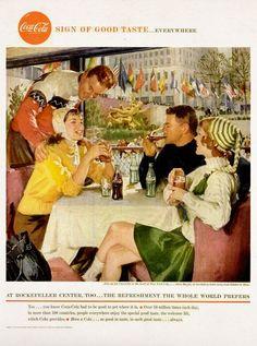 Coca Cola, 1958 advertisement