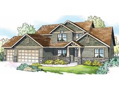 contender1~Craftsman Home Design, 051H-0171