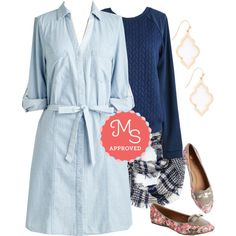 Premiere Post Dress by modcloth on Polyvore featuring Fall, outfit, layers and modcloth