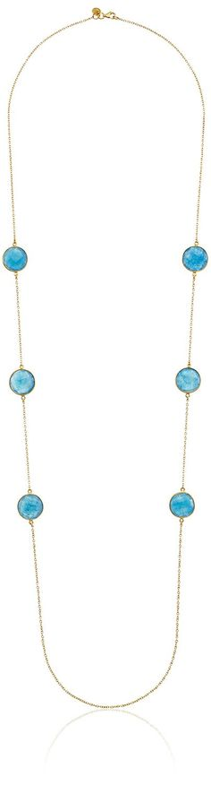 Argento Vivo Sterling Silver Blue Aventurine Long Strand Necklace, 32' * Awesome product available right here.  at trend jewelry 2016.