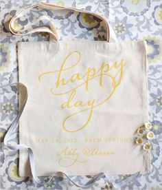 Hola Wedding Welcome Tote Bridesmaid Bag Customized For Free