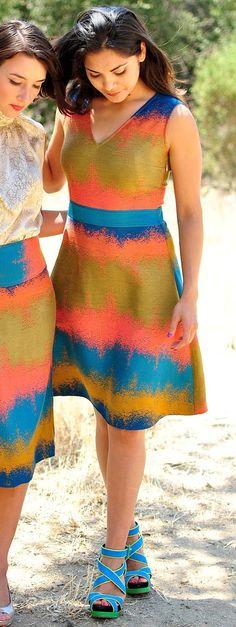 Ombre Jacquard V-Neck Dress. Southwestern by speakeasyboutique