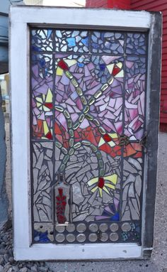 Flower vase mosaic window stained glass by PiecesofhomeMosaics, $300.00