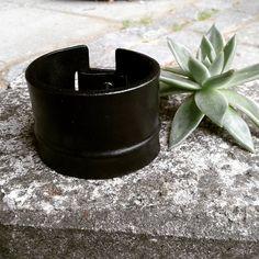 wide minimalist cuff || handmade in oxhide leather