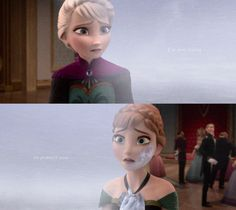 """This is how Elsa saw Anna after the incident.  Always going to be in danger of freezing completely. Always going to be marked by """"evil"""""""