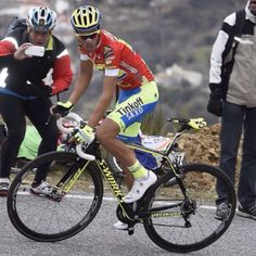Contador taking the queen stage win in Andalucía 2015 (stage 3)