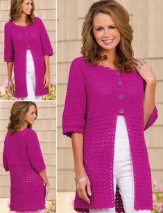 Cardigan crochet pattern free ☂ᙓᖇᗴᔕᗩ ᖇᙓᔕ☂ᙓᘐᘎᓮ http://www.pinterest.com/teretegui