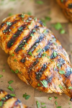 easy grilled chicken and very good!!! only marinated for 30 minutes and still yummy