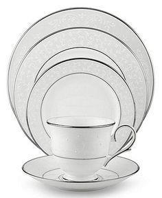 Lenox Dinnerware, Opal Innocence 5 Piece Place Setting - Fine China - Dining & Entertaining - Macy's