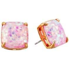 Kate Spade New York Small Square Studs (Pale Pink) Earring (260 HRK) ❤ liked on Polyvore featuring jewelry, earrings, kate spade, kate spade jewelry, earrings jewelry, kate spade earrings and square stud earrings