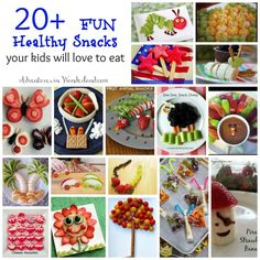 20+ Fun Healthy and Cute Snack Ideas the kids will love to eat                                                                                                                                                                                 Más