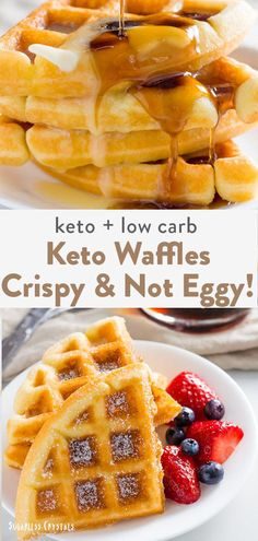 low carb yum A keto waffle recipe like you have never seen before! Crispy, fluffy, not egg tasting and made in under 15 minutes. The best keto waffles for the internet. Low Carb Waffles, Keto Pancakes, Paleo Waffles, Gluten Free Waffles, Keto Waffle, Waffle Recipes, One Egg Waffle Recipe, Recipe For Waffles, Low Calorie Waffle Recipe