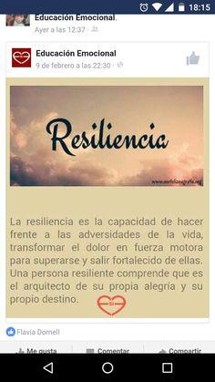 Resiliencia capacidad necesaria para la vida