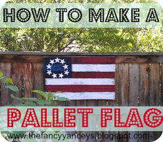 VINTAGE ROMANCE STYLE: Easy DIY Pallet Flag Tutorial