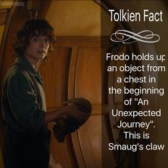 """I just realized I have made like no facts on The Hobbit. Probs bc I just know more of LOTR off the top of my head. Hope this fact isn't obvious but I…"""