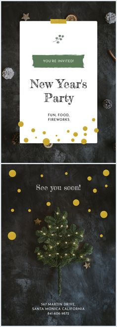 We have the perfectly designed New Year invitation card template. Edit it with your party's details and change the text and color as you'd like. Don't forget to share the final result with us! Invitation Card Design, Invitation Cards, Invitations, Best Templates, Card Templates, Pizza Wedding, Online Cards, Big Party, New Years Party