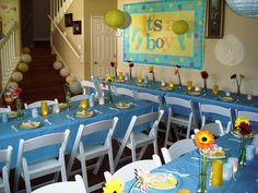 103 Awesome Blue Baby Shower Ideas Images Fun Baby Baby Shower