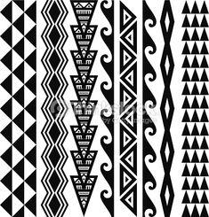 Arte vettoriale : Hawaiian tribale pattern