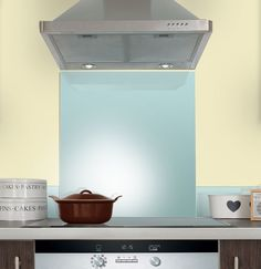 Coloured Splashbacks Archives - Page 2 of 2 - Splashback White Gloss Kitchen, Pastel Kitchen, Coloured Glass Splashbacks, Pretty Pastel, Colored Glass, Color Pop, Powder, Home Appliances, Contemporary
