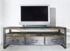 1000 images about mueble tv on pinterest tvs modern for Mueble de pared industrial