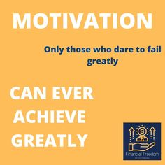 MOTIVATION TUESDAY Don't ever afraid to Fail. Failure is part of the Game. Just those who dare to play will fail (rather say experiencing), so just keep playing and implement what you learn to being able do it differently and keep your head up! Failure Quotes, Learning To Be, How To Stay Motivated, Dares, Tuesday, Freedom, How To Plan, Play, Motivation