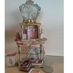 1/12 Lady's Boudoir Desk open... by Anne Roder