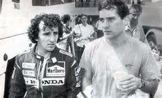 ayrton senna with Alain Prost