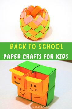 4 Fun back to school paper crafts for kids. We have 4 easy back to school crafts for younger kids, tweens and teens. Paper notebook craft, paper organiser craft, pencil holder and DIY corner bookmarks. #craftsbyria Paper Crafts For Kids, Diy For Kids, Easy Crafts, Kids Holidays, Back To School Crafts, Corner Bookmarks, Kids Zone, Paper Organization, Crafty Kids