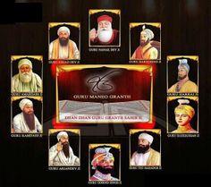 The ten sikh gurus.