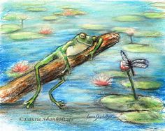 """""""Are You Sleeping Little Frog?"""" by Laurie Shanholtzer -The dragonfly asks the funny little frog!"""