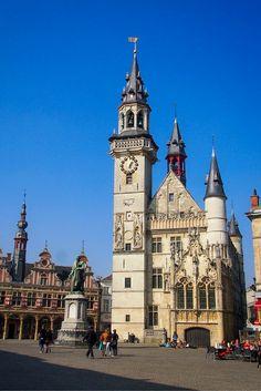 The gorgeous belfry of Aalst, Belgium, is a UNESCO World Heritage Site.