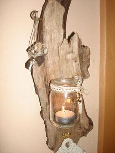 1000 images about schwemmholz treibholz on pinterest deko driftwood planters and tags - Wandlampe holz basteln ...
