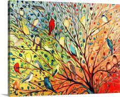 Painting Prints, Wall Art Prints, Canvas Prints, Painting Canvas, Bird Paintings On Canvas, Apple Painting, Framed Prints, Ink Painting, Bird Canvas