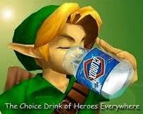 Link from legend of Zelda drinking bleach the choice of heroes everywhere meme