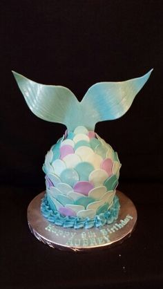 Mermaid tail giant cupcake