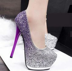 shoe, shoe, my... #glitter #shoes #purple #perfect #shoelove