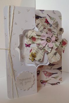 Card designed by Julie Hickey using Label Twister card blank and Botanica Collection.