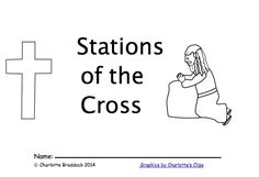 free downloadable Stations of the Cross coloring book for storytelling the Christian Resurrection myth