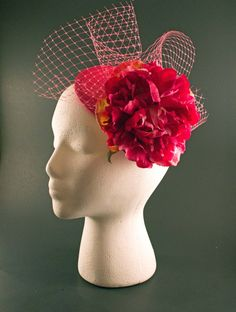 Pink Flower Fascinator perfect for The Kentucky Derby
