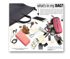 """""""What's In My Bag?"""" by hanicelma ❤ liked on Polyvore featuring St. John, DEOS, Kate Spade, Crate and Barrel, D&G, polyvorecontest and inmybag"""