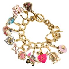 Designer Clothes, Shoes & Bags for Women Juicy Couture Bracelet, Juicy Couture Jewelry, Juicy Couture Charms, Ankle Bracelets, Charm Bracelets, Stamped Jewelry, Luxury Gifts, Fashion Bracelets, Jewelry Art