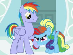 Rainbow and her dad