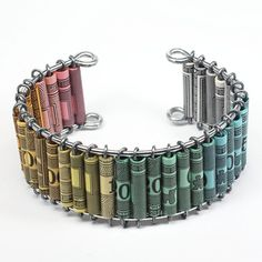 Paper Bead Jewelry Upcycled Monopoly Money Ombre Jewelry by Tanith
