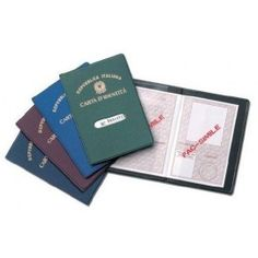 Porta carta d'identità in tessuto plastico