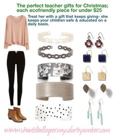 """Christmas gifts for teachers"" by chantel-yourcbastylist on Polyvore featuring MANGO, Warehouse, Christmas, gift, jewelry, teacher and ecofriendly"
