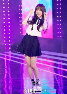 Stage Outfits, Dope Outfits, South Korean Girls, Korean Girl Groups, Jin Park, Lovelyz Kei, Cute School Uniforms, K Pop Music, Woollim Entertainment