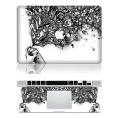 The GraffitiMac Full Cover decal Macbook Decals by AttractiveDecal