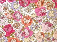 Japanese Cotton Fabric - Roses of Versailles - Half Yard
